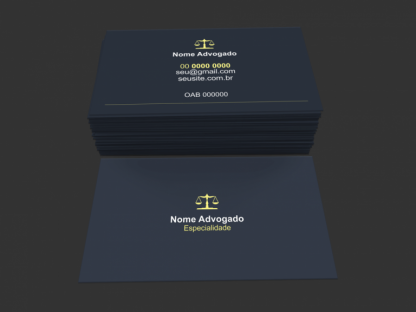 Cartão de Visita Advogado Modelo 01