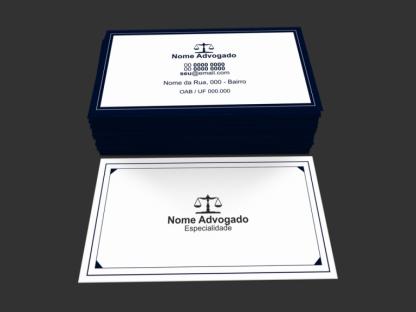 Cartão de visita advogado modelo 03