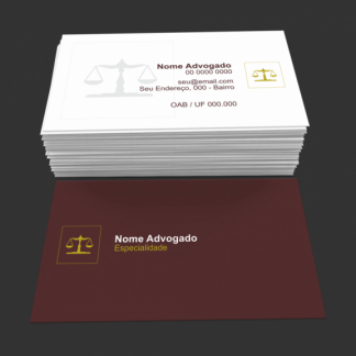 Cartão de Visita Advogado Modelo 05