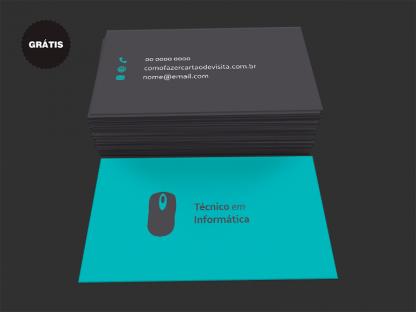 Cartão de Visita Técnico em Informática Grátis