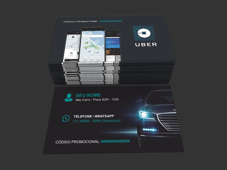 modelo 3 cartão de visita uber