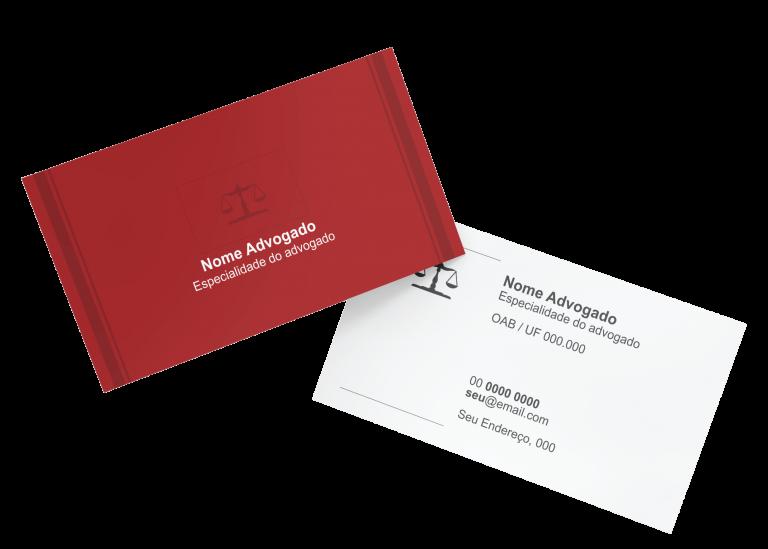 Cartão de Visita Advogado Modelo 02