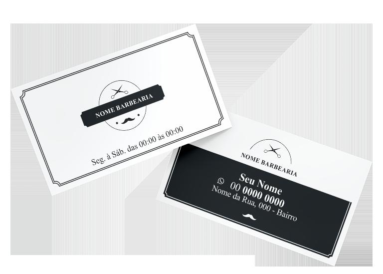 Cartão de Visita Barbearia Modelo 02