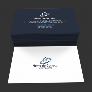 Cartão de Visita Corretor de Imóveis Modelo 01