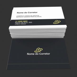 Cartão de Visita Corretor de Imóveis Modelo 02