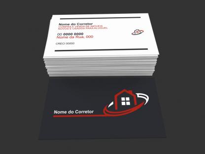 Cartão de Visita Corretor de Imóveis Modelo 03
