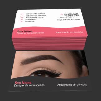Cartão de Visita Designer de Sobrancelhas Modelo 01