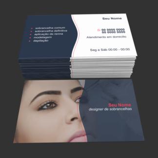 Cartão de Visita Designer de Sobrancelhas Modelo 02
