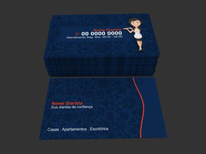 Cartão de Visita Diarista - Modelo 01