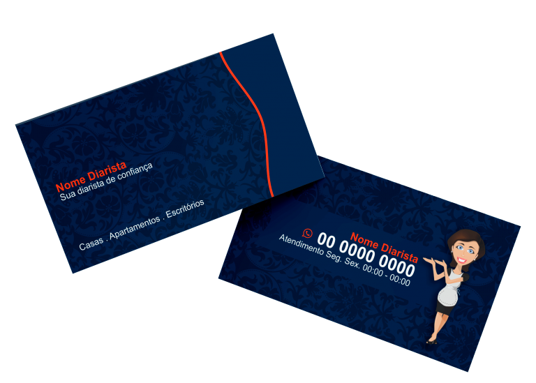 Cartão de Visita Diarista Modelo 01