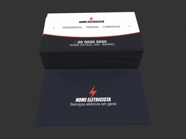 Cartão De Visita Eletricista Modelo 01