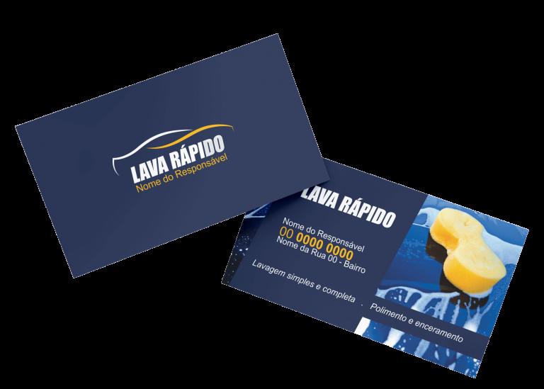 Cartão de Visita Lava Rápido Modelo 01