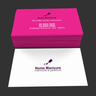 Cartão de Visita Manicure e Pedicure Modelo 03