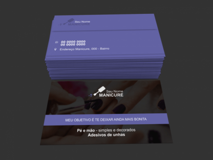 Cartão de Visita Manicure e Pedicure Modelo 04