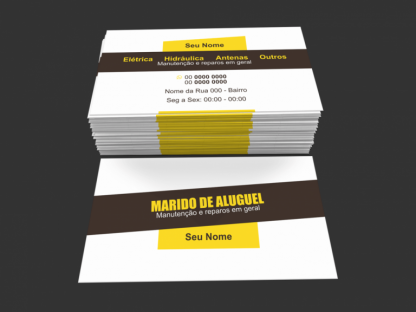 Cartão de Visita Marido de Aluguel Modelo 01