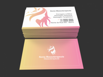 Cartão de Visita Massoterapeuta Modelo 01