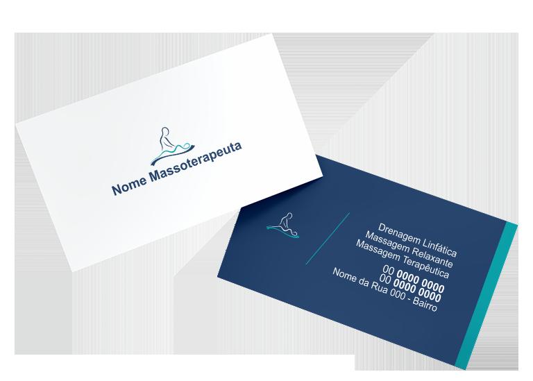 Cartão de Visita Massoterapeuta Modelo 02