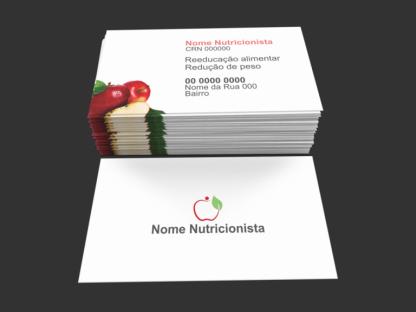 Cartão de Visita Nutricionista Modelo 03