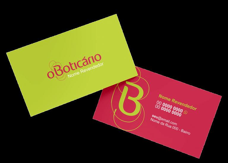 Cartão de Visita O Boticário Modelo 01