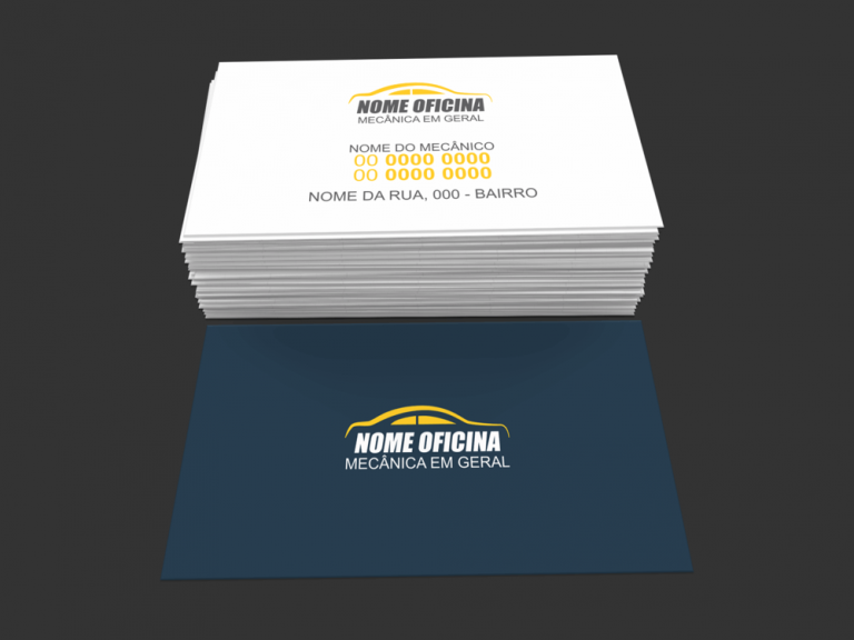 Cartão De Visita Oficina Mecânica Modelo 03