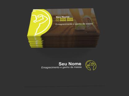 Cartão de Visita Personal Trainer Modelo 01