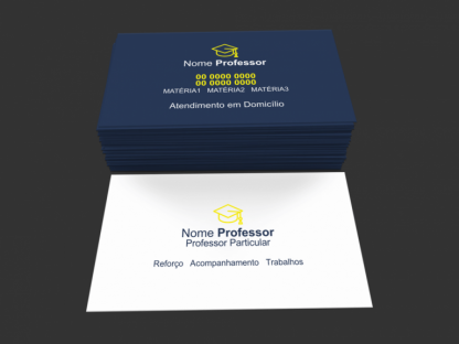 Cartão de Visita Professor Particular Modelo 01