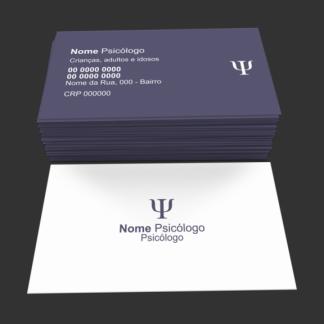Cartão de Visita Psicologia Modelo 04