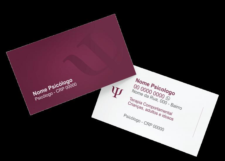 Cartão de Visita Psicologia Modelo 03