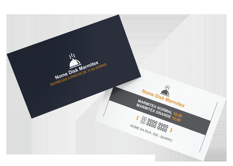 Cartão de Visita Restaurante e Marmitex Modelo 04