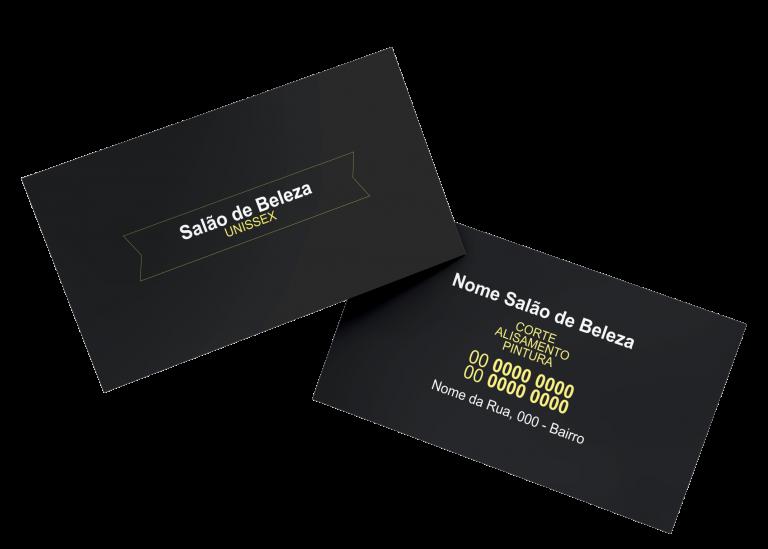 Cartão de Visita Salão de Beleza Modelo 01