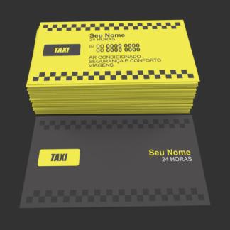 Cartão de Visita Taxista Modelo 01