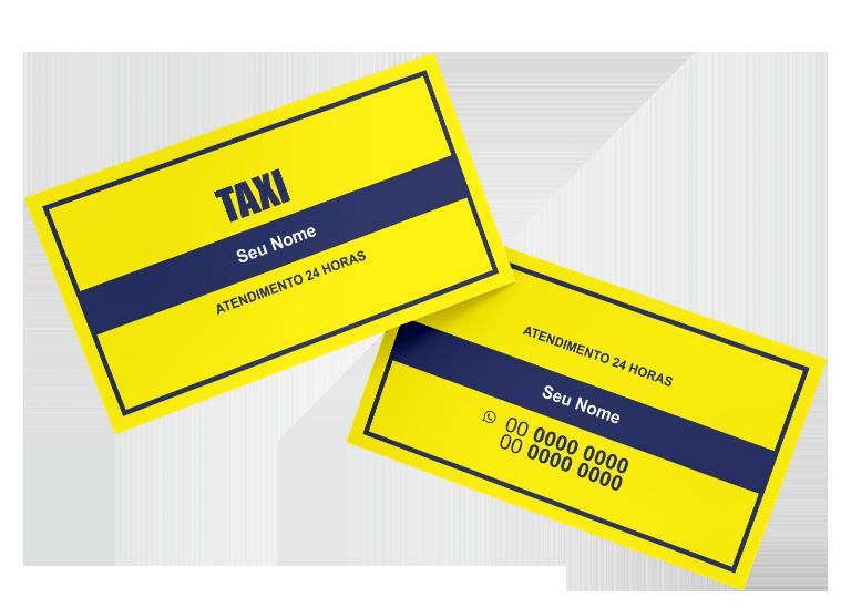 Cartão de Visita Taxista Modelo 05