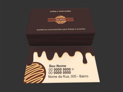 Cartão de Visita Trufas de Chocolate Modelo 01