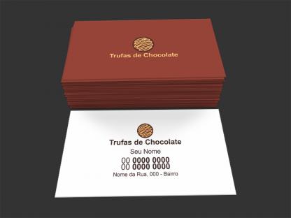 Cartão de Visita Trufas de Chocolate Modelo 03