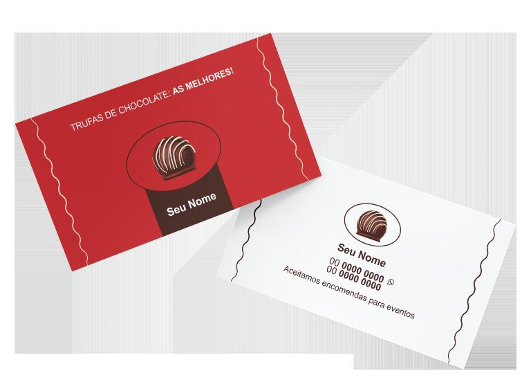 Cartão de Visita Trufas de Chocolate Modelo 02