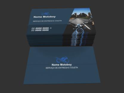 Cartão de Visita Moto Táxi e Motoboy Modelo 04