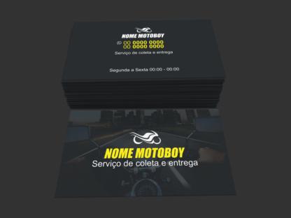 Cartão de Visita Moto Táxi e Motoboy Modelo 05