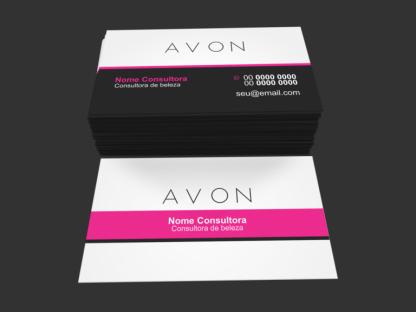Cartão de Visita Avon Modelo 02