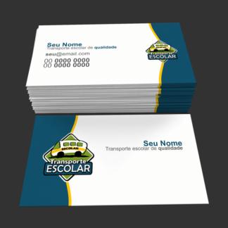 Cartão de Visita Transporte Escolar Modelo 02