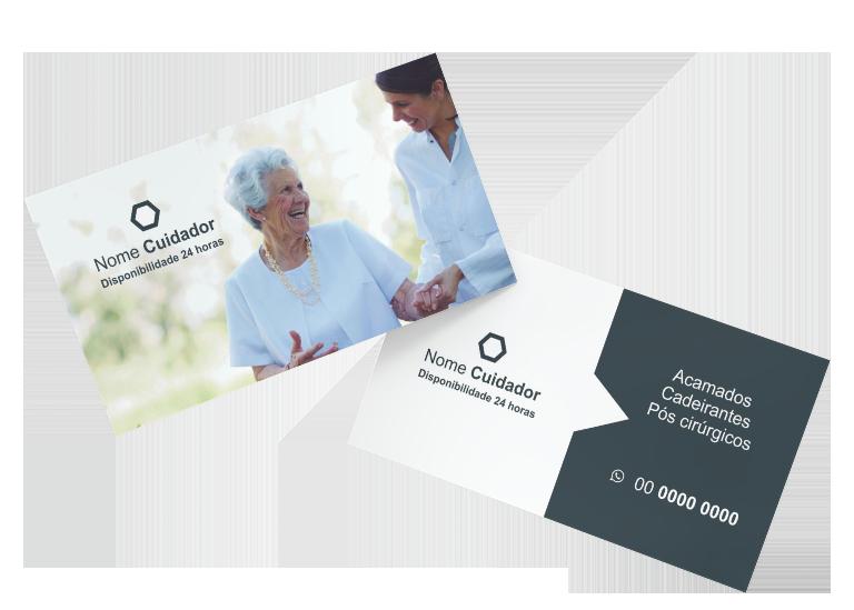 Cartão de Visita cuidador de idosos - modelo 05