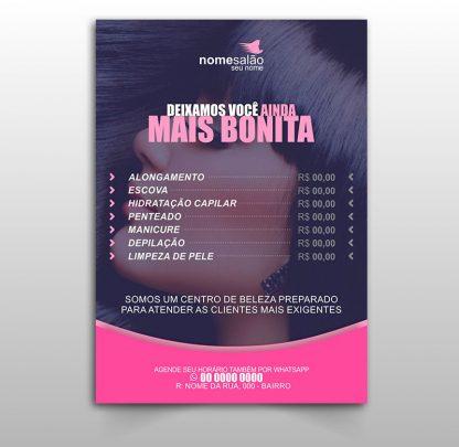 Panfleto Salão de Beleza - Modelo 02